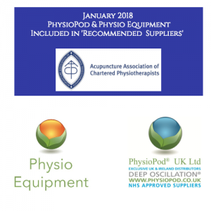 PhysioPod® and Physio Equipment become 'Recommended Suppliers' of The Acupuncture Association of Chartered Physiotherapists (AACP)